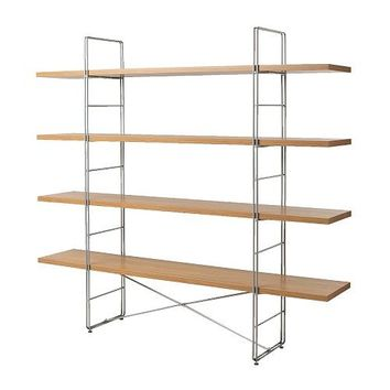 Ikea Enetri Shelving Unit $60 oak/ chrome