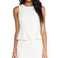 MM Couture by Miss Me Sleeveless Peplum Dress in Ivory