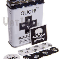 Ouch! Skulls and Bones Bandages: 24 assorted jolly roger band aids