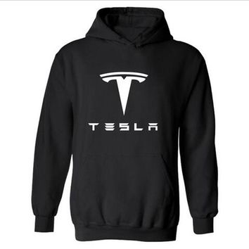 TESLA MOTORS Hooded Mens xxxl Hoodie in FRIDAY Famous Brand TESLA Hoodies Men Hip Hop Sweatshirts