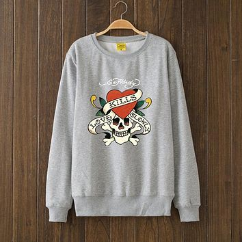 ED HARDY Fashion Print Top Sweater Pullover