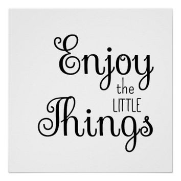 Enjoy the Litte Things Quote Saying Poster
