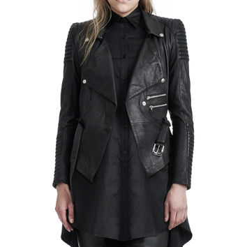 DRAPED MOTORCYCLE JACKET