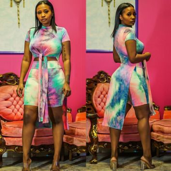 Tiy Dye Womens Two Pieces Sets