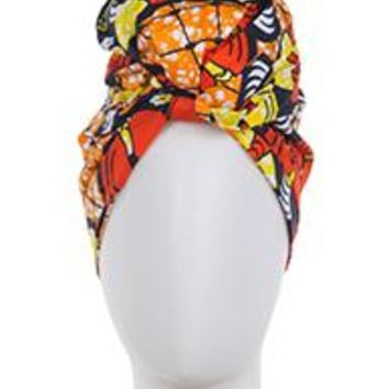 beautiful AFRICAN PRINT DASHIKI Head /Neck WRAP Scarf