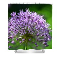 Purple Head Shower Curtain