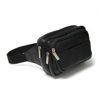 Royce Leather Vaquetta Leather Multi Compartment Fanny Pack