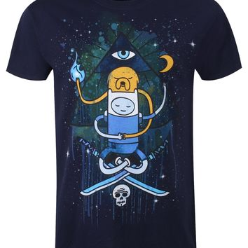 Adventure Time All Seeing Eye Men's Navy T-Shirt