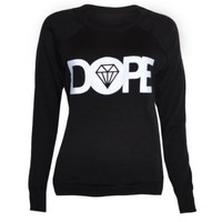 Womens Dope Sweater Jumper Top (8/10 (UK12/14), BLACK)