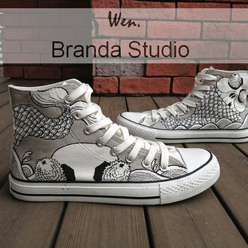 Tattoos,Tattoos Shoes,Studio High Top Hand Painted Shoes51.99Usd,Paint On Custom Converse Shoes Only 90Usd,Buy One Get One Phone Case Free