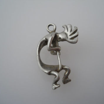Sterling Silver 925 Kokopelli Pendant Flute Player Masha Sterling