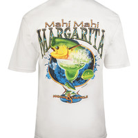 Men's Mahi Mahi Margarita S/S Pocket Fishing T-Shirt