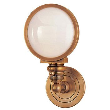 Visual Comfort and Company SL2935HAB-WG Antique Brass Boston Head Light Wall Sconce