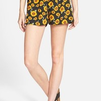 Junior Women's Zoe and Rose Sunflower Print Shorts
