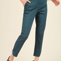 Delighted Foresight Pants in Dusk | Mod Retro Vintage Pants | ModCloth.com