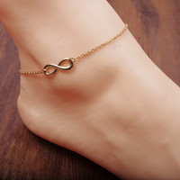 Cute Gold Infinity Anklet