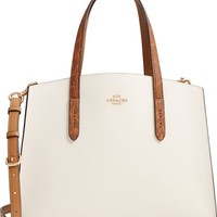 COACH Charlie Genuine Snakeskin & Leather Tote | Nordstrom