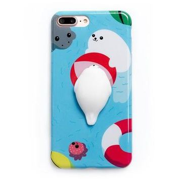 Squishy Seal Phone Case For iPhone 6, 6s, 7, 7 Plus