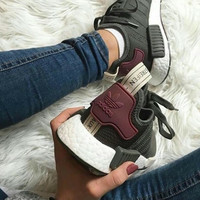 x1love : Adidas NMD R1 Boost Women Trending Running Sports Shoes Sneakers