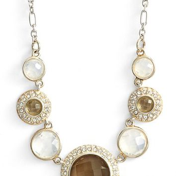 Women's Judith Jack Stone Frontal Necklace - Silver/ Crystal/ White Opal
