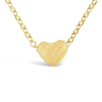 Gold Tiny Heart Pendant Necklace