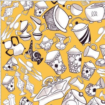 The Kitchen Sink Yellow Fabric