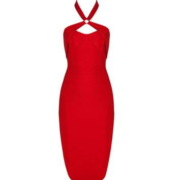 Elli Red Midi Dress