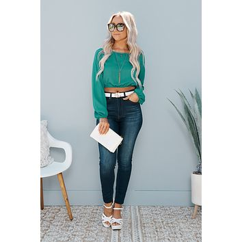 See You Clearly Crop Top (Teal Green)