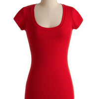 What's the Scoop Neck Top in Red | Mod Retro Vintage T-Shirts | ModCloth.com