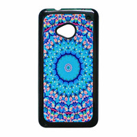Flowers Sea Pattern HTC One M7 Case