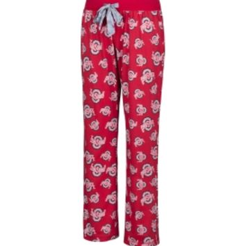 Scarlet & Gray Women's Ohio State Buckeyes Scarlet Sunday Funday Sleep Pants