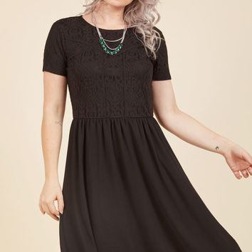 Solo Dining Delights A-Line Dress in Black | Mod Retro Vintage Dresses | ModCloth.com