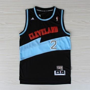 Cleveland Cavaliers #2 Kyrie Irving Black /Blue Jersey