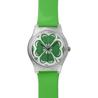 Lucky Clover Green Wristwatch