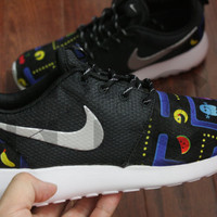 Nike Roshe Run Black Vintage Arcade Game V5 Edition Custom Men & Women