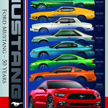 Ford Mustang 50 Years - 1000 Piece Jigsaw Puzzle