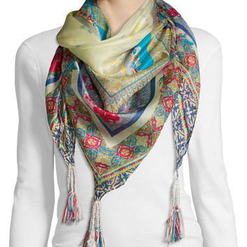 Karina Printed Silk Scarf, Size: ONE SIZE, MULTI KARINA - Johnny Was Collection