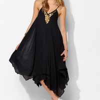 Ecote Neima Gauze Coin Trapeze Dress - Urban Outfitters
