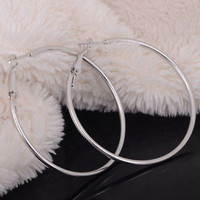 Big Round Earrings New Series Large Hoop Huggie Loop for Women Girls Smooth CBAU