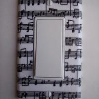 Musical Notes Rocker Switchplate GFI Outlet Switch Plate