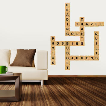 Nursery wall decals - Letter Blocks