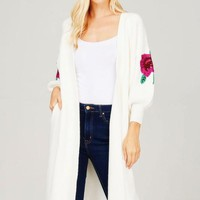 Rose Open Knit Cardigan