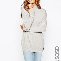 ASOS Tall | ASOS TALL Tunic With High Neck In Cashmere Blend at ASOS