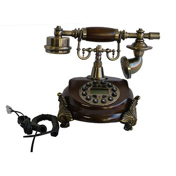 European Antique Fixed Landline Retro Telephone Machine Dial