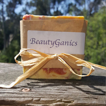 Organic * Goat Milk Grapefruit Spearmint Soap* Handmade BeautyGanics  5oz