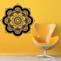 Wall Decal Decor Decals Art Buddhism India Star Buddha Mandala Model Map Space God Yoga Religion (M600)