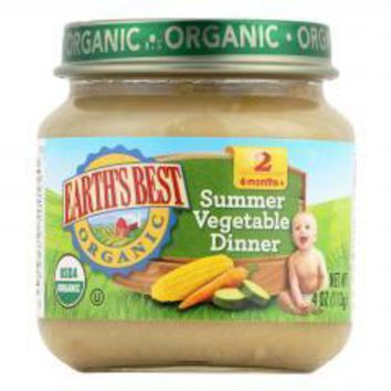 Organic Summer Vegetable Dinner Baby Food - Stage 2 - Case of 12 - 4 oz.