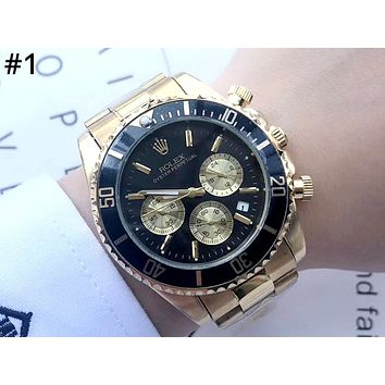 ROLEX street fashion men and women models three-eye high-grade waterproof quartz watch #1