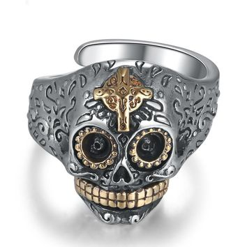 925 Sterling Silver Men's Skull Ring