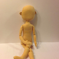 Blank doll body Doll body for crafting Stuff doll body dollmaking rag doll soft doll rag doll body the body of the doll made of cloth